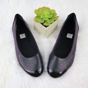 Puma Flats Black & Purple Suede Leather sz 9